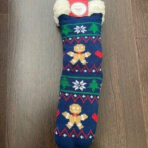 Charter Club Slipper Socks Gingerbread Men NWT